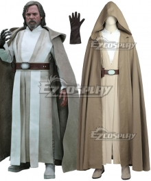 Star Wars The Last Jedi Luke Skywalker Cosplay Costume - No Boots
