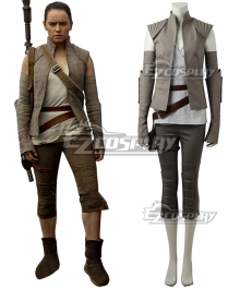 Star Wars The Last Jedi Rey Cosplay Costume - New Edition
