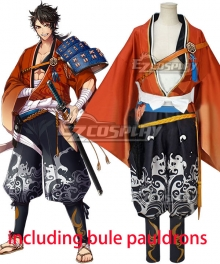 Katsugeki Touken Ranbu Mutsunokami Yoshiyuki Cosplay Costume - Including blue shoulder armor