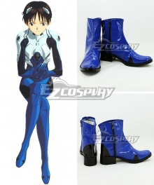 EVA Neon Genesis Evangelion Shinji Ikari Blue Cosplay Shoes