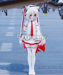 Vocaloid Hatsune Miku White 9 Tails Fox Cosplay Costume