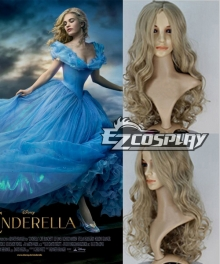 2015 Newest Movie Ella Cinderella Princess Cosplay Wig