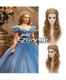 Cinderella Film Ella Brown Cosplay Wig