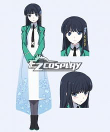 Mahouka Koukou no Rettousei/The Irregular at Magic High School Miyuki Navy Blue Cosplay Wig