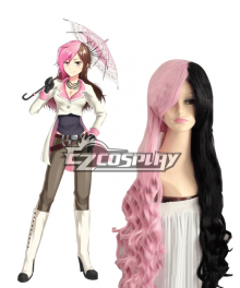 Rwby Neopolitan Neo Long Black and Pink Cosplay Wig