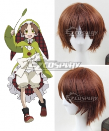 Rokka Braves of the Six Flowers Rokka no Yusha Chamo Chamot Rosso Brown Cosplay Wig