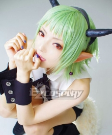 Seraph of the End Battle in Nagoya Owari no Serafu Vampire Reign Kisekio Shiho Kimizuki Green Cosplay Wig