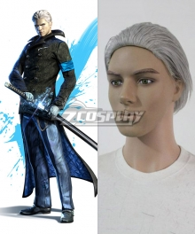 DmC Devil May Cry 5 Vergil Silver Cosplay Wig