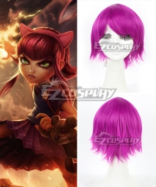 League of Legends Annie The Dark Child Purple Cosplay Wig