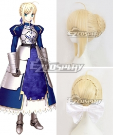 Fate Stay Night Fate Zero Saber Altria Pendragon King Arthur Yellow Cosplay Wig - Only Wig