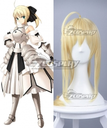 Fate Stay Night Fate Grand Order Saber Lily Artoria Pendragon King Arthur Yellow Cosplay Wig