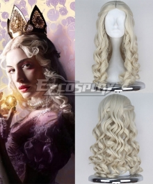 Alice in Wonderland Through the Looking Glass White Queen Cosplay Wig