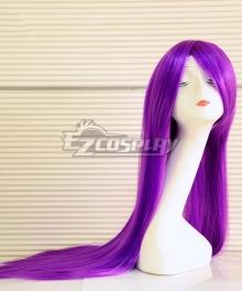 General Cosplay Long 100cm Wigs Purple Straight Hair Bangs