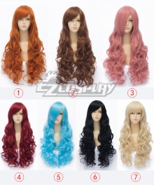 General Cosplay Multicolor Long Airy Curl Wigs Lolita 75cm Date A Live Yoshino Maid