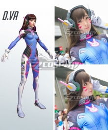 Overwatch OW D.Va DVa Hana Song Dark brown Cosplay Wig