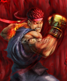 Street Fighter Evil Ryu Red Cosplay Wig