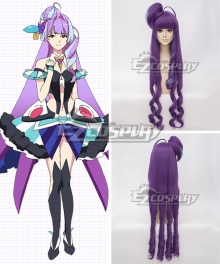 Macross Delta Macross Δ Mikumo Guynemer Purple Cosplay Wig