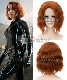 Marvel Avengers Age of Ultron Black Widow Natasha Romanoff Brown Cosplay Wig
