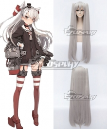 Kantai Collection KanColle Destroyer Amatsukaze Silver Gray Cosplay Wig