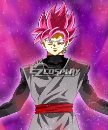 Dragon Ball Super Goku Black Red Cosplay Wig
