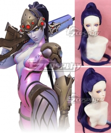 Overwatch OW Widowmaker Amelie Lacroix Deep Purple Cosplay Wig