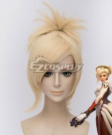 Overwatch OW Mercy Angela Ziegler Yellow Cosplay Wig