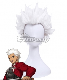 Fate Stay Night Emiya Shirou White Cosplay Wig
