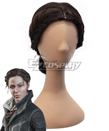 Assassin's Creed Evie Frye Deep Brown Cosplay Wig