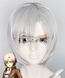 Attack on Titan Shingeki no Kyojin Rico Silver grey Cosplay Wig - Only Wig