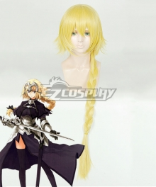 Fate Grand Order Ruler Joan of Arc Jeanne d'Arc Golden Cosplay Wig - A Edition