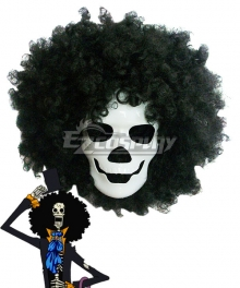 One Piece Brook Burukku Cosplay Mask Prop Wig
