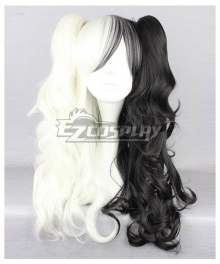 Danganronpa Monokuma Female Black White Cosplay Wig