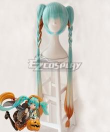 Vocaloid Hatsune Miku Trick or Miku Figure 2017 Halloween Blue Orange Cosplay Wig