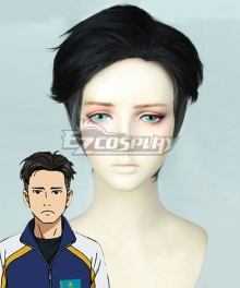 Yuri on Ice YURI!!!on ICE Otabek Altin Black Grey Cosplay Wig