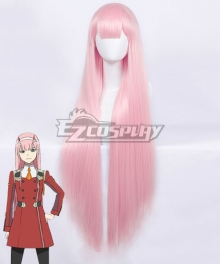 Darling in the Franxx Zero Two Code 002 Light Pink Cosplay Wig