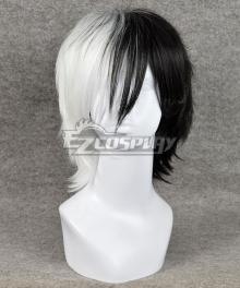 Danganronpa Monokuma Male Black White Cosplay Wig