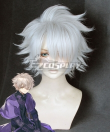 Fate Grand Order Galahad Grey White Cosplay Wig