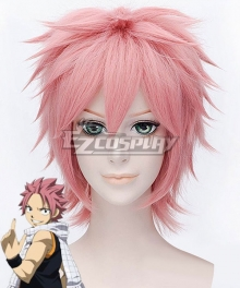 Fairy Tail Etherious Natsu Dragneel Pink Cosplay Wig