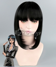 One Piece Nico Robin Before Two Years Short Black Cosplay Wig