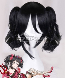 Love Live! Nico Yazawa Curls Black Cosplay Wig