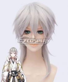 Touken Ranbu Tsurumaru Kuninaga Silver White Cosplay Wig