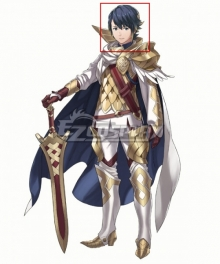 Fire Emblem Heroes Alfonse Blue Cosplay Wig