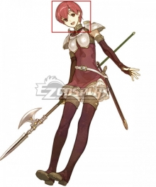 Fire Emblem Echoes: Shadows of Valentia Est Red Cosplay Wig