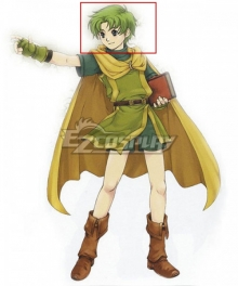 Fire Emblem Binding Blade Lugh Green Cosplay Wig