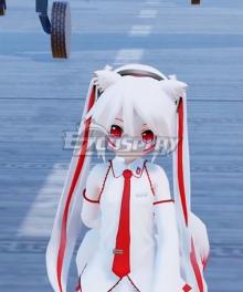 Vocaloid Hatsune Miku White 9 Tails Fox White Cosplay Wig