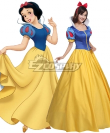 Disney Snow White Princess Snow White Yellow Dress Cosplay Costume - A Edition
