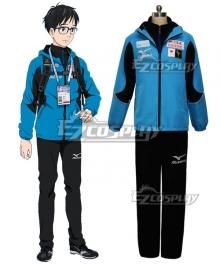 Yuri on Ice YURI!!!on ICE Katsuki Yuuri Sportswear Suit Outfit Cosplay Costume