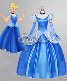 Disney Princess Cinderella Blue Copslay Costume