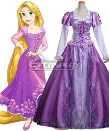 Disney Tangled Rapunzel Princess Purple Dress Cosplay Costume - A Edition