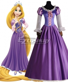 Disney Tangled Rapunzel Princess Purple Dress Cosplay Costume - B Edition